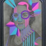 "She Will Never Be the Same 2011 acrylic gouache on vintage photograph 9 1/2""x6 1/2"" SOLD"